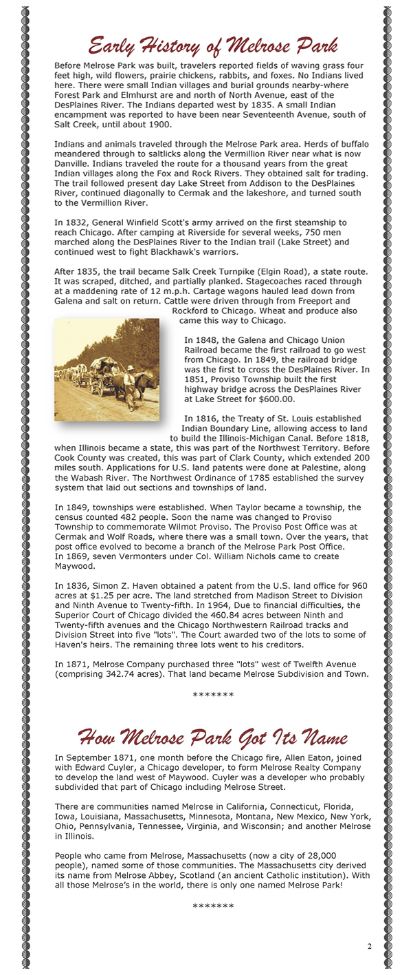 history of melrose